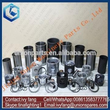 D6BR Engine Cylinder Liner Kit Piston Piston Ring for Hyundai Excavator R200LC