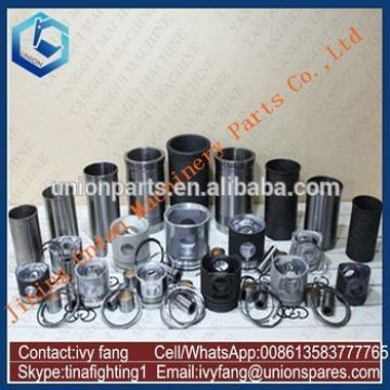 6DS70 Engine Cylinder Liner Kit Piston Piston Ring for Kato Excavator HD400G