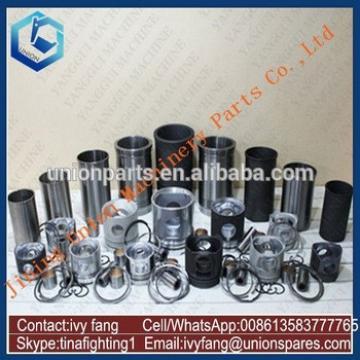 NH220-V Engine Cylinder Liner Kit Piston Piston Ring for Kato Excavator HD1800G