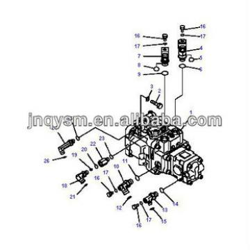 Hot! hydraulic pump for excavator PC50 MR-2, hydraulic pump PART NUMBER 708-3S-00421
