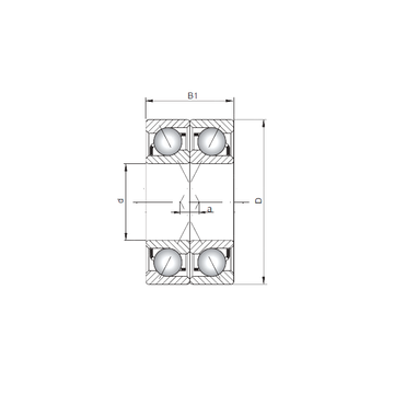7214 BDF ISO Angular Contact Ball Bearings