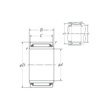 LM2512 NSK Needle Roller Bearings