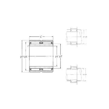 NAO-40×62×40ZW NTN Needle Roller Bearings