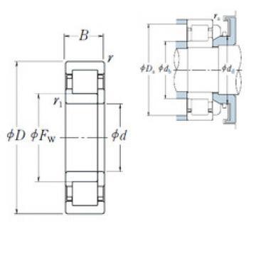 Original SKF Cylindrical Roller Bearings NUP2208 ET NSK