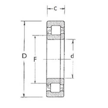 Original SKF Cylindrical Roller Bearings NUP2208 FBJ
