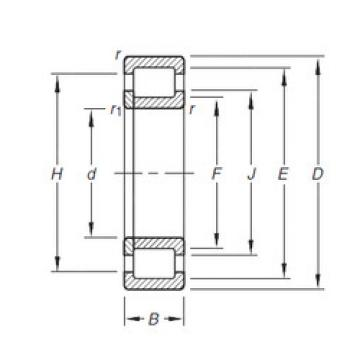 Original SKF Cylindrical Roller Bearings NUP2206E.TVP Timken