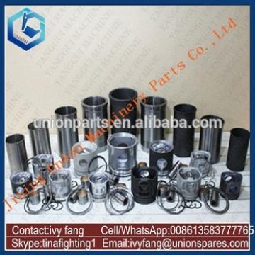 B3.9-C Engine Cylinder Liner Kit Piston Piston Ring for Hyundai Excavator R150LC-7
