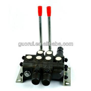 Hydraulic hand control valve, monoblock valve