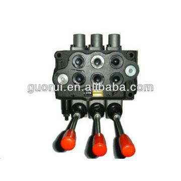 Harvester hydraulic control valve, monoblock valve