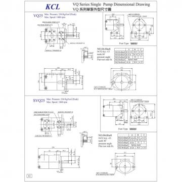VQ215-75-6-F-R TAIWAN KCL Vane pump VQ215 Series
