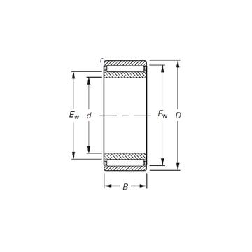 NAO8X19X10 Timken Needle Roller Bearings