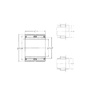 NAO-40×62×40ZW NTN Needle Roller Bearings